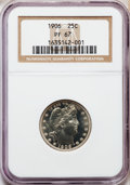 Proof Barber Quarters: , 1906 25C PR67 NGC NGC Census: (26/7). PCGS Population (18/2). Mintage: 675. Numismedia Wsl. Price for problem free NGC/PCGS...
