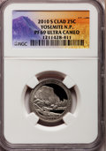 Proof National Parks Quarters, 2010-S 25C Yosemite National Park Clad PR69 Ultra Cameo NGC. PCGSPopulation (1069/254). (#418837)...