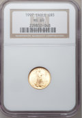 Modern Bullion Coins: , 1997 G$5 Tenth-Ounce Gold Eagle MS69 NGC. NGC Census: (2150/644).PCGS Population (1304/113). Mintage: 528,515. Numismedia ...