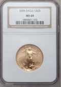 Modern Bullion Coins, 2005 G$25 Half-Ounce Gold MS69 NGC NGC Census: (0/0). PCGSPopulation (12349/373). Numismedia Wsl. Price for problem free ...