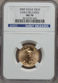 Modern Bullion Coins, 2009 $10 Quarter-Ounce Gold Eagle, Early Releases MS70 NGC.(#404435)...
