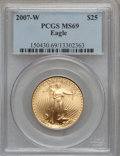 Modern Bullion Coins, 2007-W $25 Half-Ounce Gold Eagle MS69 PCGS. PCGS Population(962/502). NGC Census: (1172/2280). Numismedia Wsl. Price for ...