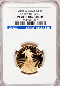 2011-W G$25 Half-Ounce Gold Eagle, Early Releases PR70 Ultra Cameo NGC. NGC Census: (763). PCGS Population: (172). PR70...