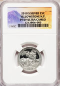 Proof National Parks Quarters, 2010-S 25C Yellowstone National Park Silver PR69 Ultra Cameo NGC. PCGS Population (1468/515). (#418834...