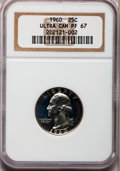 Proof Washington Quarters: , 1960 25C PR67 Ultra Cameo NGC. PCGS Population (137/144).Numismedia Wsl. Price for problem free NGC/PC...