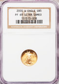 Modern Bullion Coins: , 2000-W G$5 Tenth-Ounce Gold Eagle PR69 Ultra Cameo NGC. NGC Census:(880/635). PCGS Population (1503/116). Numismedia Wsl....