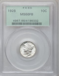 Mercury Dimes: , 1928 10C MS66 Full Bands PCGS. PCGS Population (110/25). NGCCensus: (31/5). Mintage: 19,480,000. Numismedia Wsl. Price for...