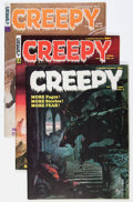 Magazines:Horror, Creepy Group (Warren, 1965-68) Condition: Average VF.... (Total: 5 Comic Books)