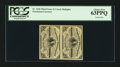 Fractional Currency:Third Issue, Vertical Pair Fr. 1226 3¢ Third Issue PCGS Choice New 63PPQ.. ...