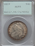 Bust Half Dollars: , 1819 50C AU55 PCGS. PCGS Population (49/100). NGC Census: (47/140).Mintage: 2,208,000. Numismedia Wsl. Price for problem f...