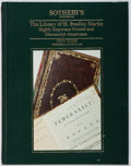 Books:Books about Books, [Books About Books]. The Library of H. Bradley Martin: Highly Important Printed and Manuscript Americana. Sotheby's,...