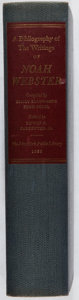 Books:Reference & Bibliography, [Books About Books]. A Bibliography of the Writings of NoahWebster. New York Public Library, 1958. First edition, f...
