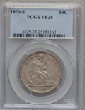 Seated Half Dollars: , 1870-S 50C VF35 PCGS. PCGS Population (8/43). NGC Census: (2/27).Mintage: 1,004,000. Numismedia Wsl. Price for problem fre...