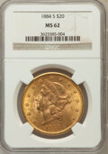 Liberty Double Eagles: , 1884-S $20 MS62 NGC NGC Census: (665/98). PCGS Population(906/303). Mintage: 916,000. Numismedia Wsl. Price for problemfr...