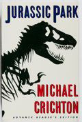 Books:Science Fiction & Fantasy, Michael Crichton. SIGNED/ARC. Jurassic Park. Knopf, 1990. Advance reading copy. Signed by the author. Mild tonin...
