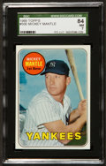 Baseball Cards:Singles (1960-1969), 1969 Topps Mickey Mantle, Yellow Letters #500 SGC 84 NM 7....