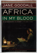 Books:Biography & Memoir, Jane Goodall. INSCRIBED. Africa In My Blood. HoughtonMifflin, 2000. First edition, first printing. Signed and ins...