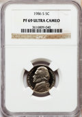Proof Jefferson Nickels: , 1986-S 5C PR69 Ultra Cameo NGC. NGC Census: (369/7). PCGSPopulation (3446/11). Numismedia Wsl. Price for problem free NGC...