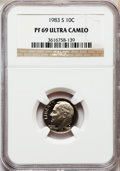 Proof Roosevelt Dimes: , 1983-S 10C PR69 Ultra Cameo NGC. NGC Census: (540/162). PCGSPopulation (3005/176). Numismedia Wsl. Price for problem free...