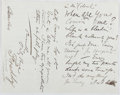 Autographs:Artists, Frederick Barnard (1846-1896, British Illustrator). AutographLetter Signed with Original Drawing. Very good....