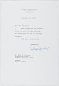 Autographs:Celebrities, Avery Brundage (1887-1975, 5th President of the InternationalOlympic Committee). Typed Letter Signed. Near fine....