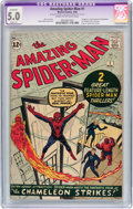 Silver Age (1956-1969):Superhero, The Amazing Spider-Man #1 (Marvel, 1963) CGC Apparent VG/FN 5.0Slight (A) Cream to off-white pages....