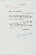 Autographs:Authors, George Harmon Coxe (1901-1984, American Writer of Crime Fiction). Typed Letter Signed. Near fine....