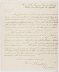 Autographs:Authors, Elias Cornelius (1794-1832, American Religious Writer). AutographLetter Signed. Very good....