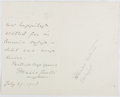 Autographs:Authors, Marie Corelli (1855-1924, British Writer). Autograph Letter Signed. Very good....