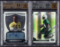 Football Cards:Lots, 2007 Darrelle Revis & Lamarr Woodley Autographed Rookie Inserts Pair (2). ...