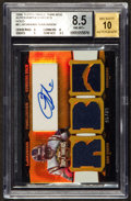 "Football Cards:Singles (1970-Now), 2006 Topps Triple Threads ""Autographed Relics-Gold"" LadainianTomlinson #6 (BGS NM-MT+ 8.5) with Beckett 10 autograph. #5 of 9..."
