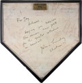 Baseball Collectibles:Others, 1973 Yankee Stadium Replica Home Plate....