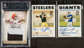 Football Cards:Lots, 2004-07 Superstar Quarterbacks Autograph/Jersey Card Trio (3). ...