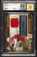 Football Cards:Singles (1970-Now), 2004 SP Game Used Edition Joe Montana Jersey/Autograph #23 of 50.....