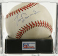 Autographs:Baseballs, Tommy Lasorda Single Signed Baseball, PSA NM-MT 8. As the highlysuccessful Dodgers manager for 21 seasons Tommy Lasorda le...