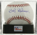 Autographs:Baseballs, Bob Gibson Single Signed Baseball, PSA Gem Mint 10. One of the mostdominant pitchers of any era here provides a flawless ex...