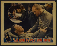 """All Quiet on the Western Front (Universal, 1930). Lobby Card (11"""" X 14""""). War. Starring Louis Wolheim, Lew Ayr..."""