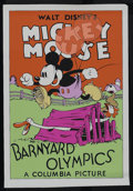 "Movie Posters:Animated, Barnyard Olympics (Columbia, 1932). Fine Art Serigraph Circa 1980s(22"" X 30""). The one and only Mickey Mouse (voiced by Wal..."