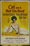 """Movie Posters:Drama, Cat on a Hot Tin Roof (MGM, 1958). One Sheet (27"""" X 41""""). Drama.Starring Paul Newman, Elizabeth Taylor, Burl Ives and Jack ..."""