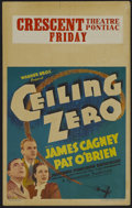 """Movie Posters:Drama, Ceiling Zero (Warner Brothers, 1936). Window Card (14"""" X 22"""").Drama. Starring James Cagney, Pat O'Brien, June Travis and St..."""