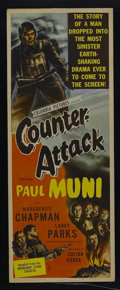 """Movie Posters:War, Counter-Attack (Columbia, 1945). Insert (14"""" X 36""""). War. StarringPaul Muni, Marguerite Chapman, Larry Parks and Harro Mell..."""
