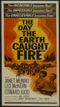 "Movie Posters:Science Fiction, The Day the Earth Caught Fire (Universal, 1961). Insert (14"" X36""). Science Fiction. Starring Janet Munro, Leo McKern, Edwa..."