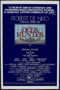 "Movie Posters:War, The Deer Hunter (Universal, 1978). One Sheet (27"" X 41"")Tri-folded. Drama. Starring Robert De Niro, John Cazale, JohnSavag..."