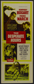 "Movie Posters:Drama, The Desperate Hours (Paramount, 1955). Insert (14"" X 36""). Crime. Starring Humphrey Bogart, Fredric March, Arthur Kennedy an..."