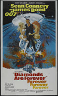 "Movie Posters:Action, Diamonds Are Forever (United Artists, 1971). Three Sheet (41"" X 81""). Sean Connery is surrounded by a bevy of beauties on th..."