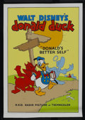 "Movie Posters:Animated, Donald's Better Self (RKO, 1938). Fine Art Serigraph Circa 1980s (22"" X 30""). Animated. Starring Clarence Nash. Directed by ..."