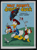 "Movie Posters:Animated, Donald's Golf Game (RKO, 1938). Fine Art Serigraph Circa 1980s (22""X 30""). Animated. Starring Clarence Nash. Directed by Ja..."