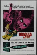 "Movie Posters:Horror, Dracula A.D. 1972 (Warner Brothers, 1972). One Sheet (27"" X 41""). Horror. Starring Christopher Lee, Peter Cushing, Stephanie..."