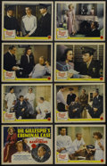 """Movie Posters:Mystery, Dr. Gillespie's Criminal Case (MGM, 1943). Lobby Card Set of 8 (11"""" X 14""""). Mystery. Starring Lionel Barrymore, Van Johnson,... (Total: 8 Items)"""