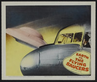 "Earth vs. the Flying Saucers (Columbia, 1956). Lobby Card (11"" X 14""). Science Fiction. Directed by Fred Sears..."